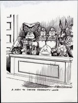 Image of A jury to decide obscenity laws - Conrad, Paul, 1924-